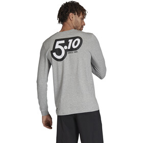 adidas Five Ten 5.10 GFX LS Shirt Men medium grey heather